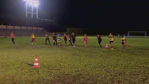 Treino Santana para Copa do Brasil feminina (Foto: Reprodução/TV Amapá)