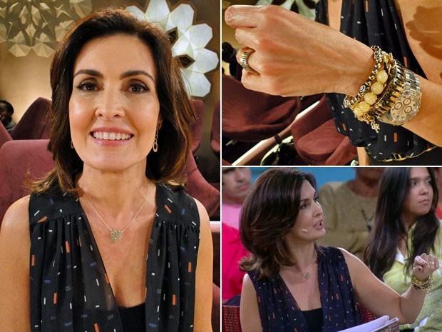 Cordão com pingente de coração e pulseiras douradas também estão na lista! (Foto: Divulgação/TV Globo)