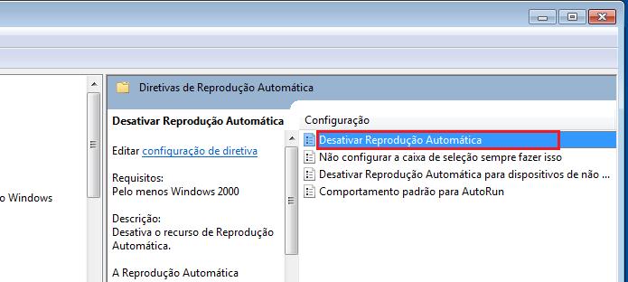 Abrindo a opção Desativar Reprodução Automática (Foto: Reprodução/Edivaldo Brito)