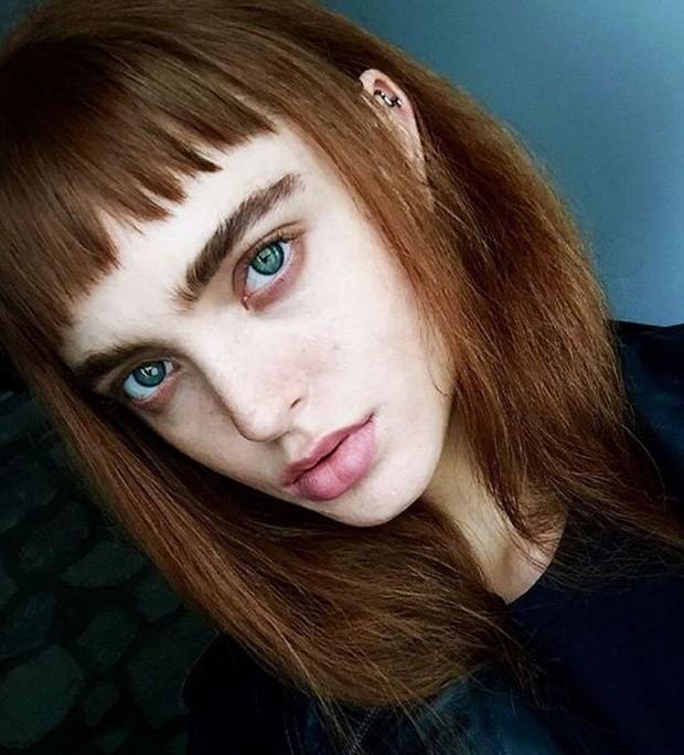 A new face americana Risa Bellak, uma das promessas da moda para a próxima temporada internacional (Foto: Reprodução/ Instagram)