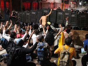 Manifestação em Campinas (Foto: Gustavo Magnusson / G1)