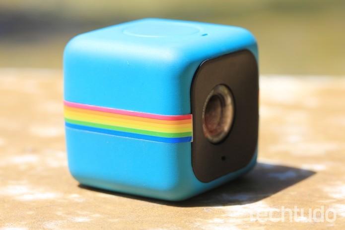 Polaroid Cube é uma câmera de ação com 6 megapixels e com gravação em Full HD (Foto: Fred Canequela/TechTudo)