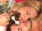 Fiorella ganha filhote de cachorrinho de Pato de presente de aniversário