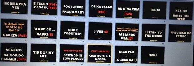 Setlist-: Fernando & Sorocaba no Brahma Valley (Foto: Reproduo)