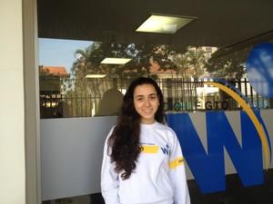 Isadoa Gahnnam, 17 anos, aluna do Colégio WR em Goiás (Foto: Versanna Carvalho/G1)