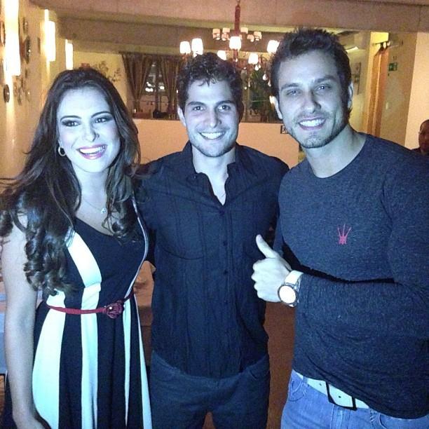 Os ex-BBBs Kamilla, André e Eliéser (Foto: Instagram / Reprodução)