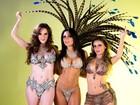 Capas da 'Sexy' posam juntas de microbiquínis, em clima de carnaval