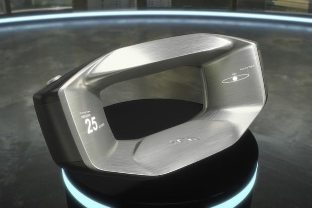 Sayer, o conceito de volante com inteligência artificial da Jaguar Land Rover (Foto: Divulgação)