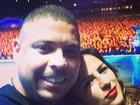 Paula Morais posa com Ronaldo e faz declaração: 'Meu amor, minha vida'