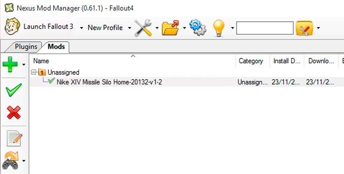 Com o mod baixado no programa, clique no ícone verde para ativa-lo (Foto: Reprodução/Tais Carvalho)