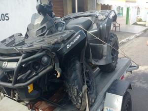 Este é o quadriciclo que atropelou o bebê. (Foto: Thiago Melo dos Santos)