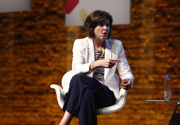 Joanna Crellin, consul do Reino Unido em São Paulo, durante o debate sobre como criar uma startup nation (Foto: Ricardo Cardoso/Editora Globo)
