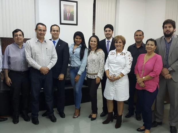 Secretário José Sobral recebe representantes da OAB Sergipe (Foto: SES / divulgação)