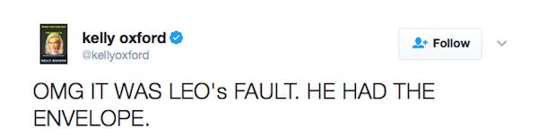 """""""Meu Deus a culpa é do Leonardo DiCaprio"""", disse um fã (Foto: Twitter)"""