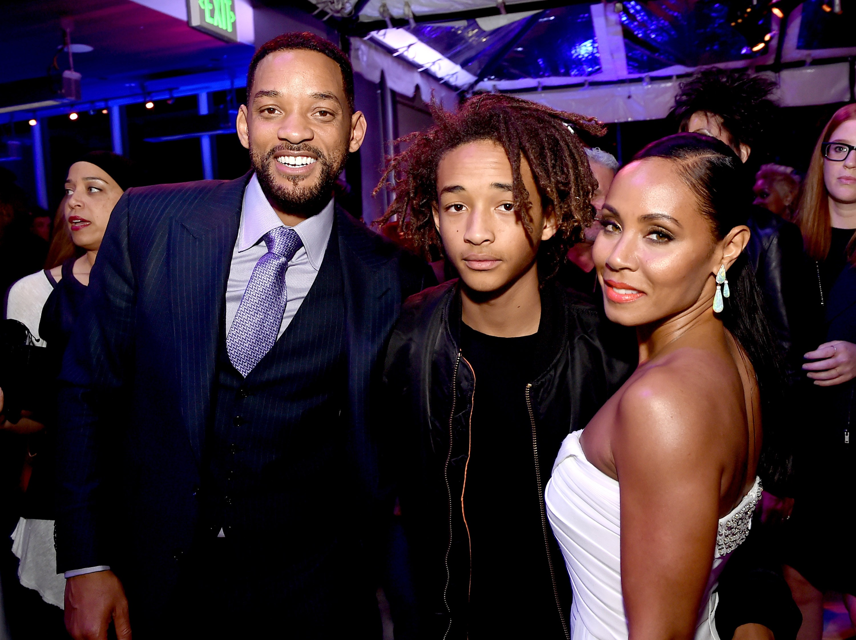 Will Smith, Jaden Smith e a mãe Jada Pinkett Smith  (Foto: Getty Images)