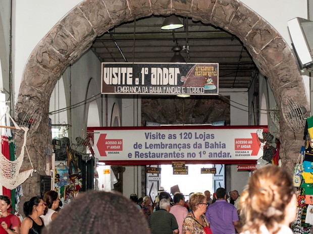 Mercado Modelo, em Salvador, fica na região da Cidade Baixa (Foto: Egi Santana/ G1)