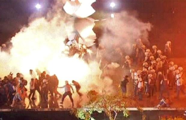 Itamaraty, protesto (Foto: Reprodução/TV Globo)