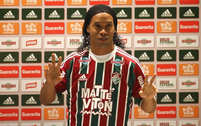 Apresentação Ronaldinho Gaúcho Fluminense (Foto: Marcelo de Jesus)