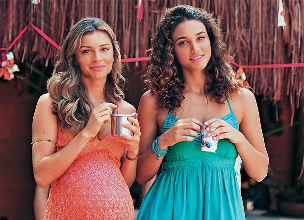 Grazi e Débora como Ester e Taís em Flor do Caribe (Foto: TV Globo/Divulgação)
