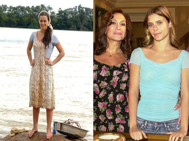 Carol como Lindalva e Isabel, em 'Senhora do Destino' (Foto: TV Globo - João Miguel Júnior)