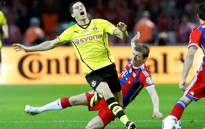 Lewandowski e Kroos Borussia Dortmund e Bayern de Munique (Foto: Agência Reuters)