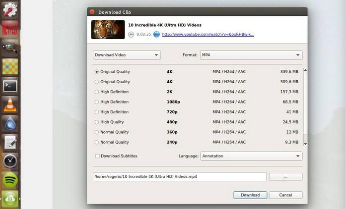 4K Video Downloader baixa vídeos do YouTube em ultra definição (Foto: Reprodução/Raquel Freire)
