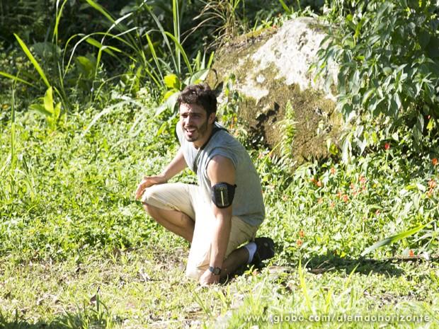 Por pouco! William completa a prova no último minuto (Foto: Felipe Monteiro/TV Globo)