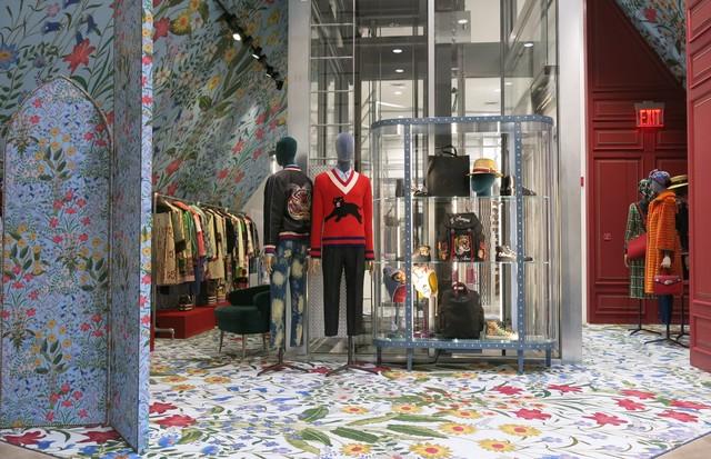 O espaço da Gucci (Foto: Reprodução)