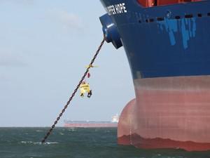Navio Clipper Hope está ancorado na baía de São Marcos em São Luís (Foto: Biaman Prado)