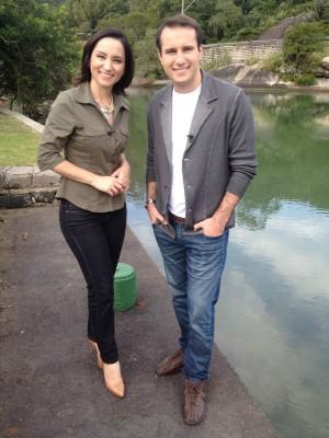 Os apresentadores Sonia Campos e João Salgado (Foto: Mateus Castro/RBS TV)