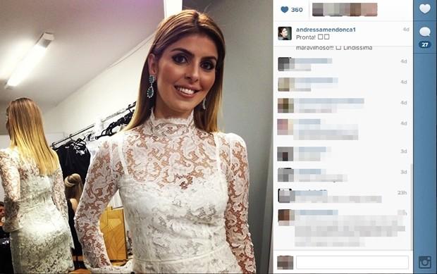 Andressa Mendonça antes de festa no Palácio das Esmeraldas, em Goiânia (Foto: Reprodução/Instagram)