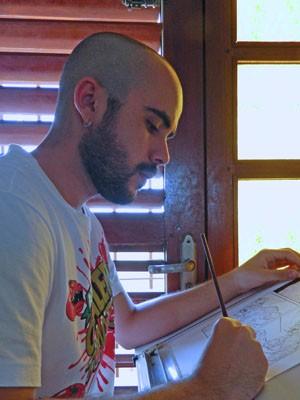 """Juscelino trabalhou na produção de """"Parafusos, Zumbis e Monstros do Espaço"""" durante um ano (Foto: Arquivo Pessoal/Juscelino Neco)"""
