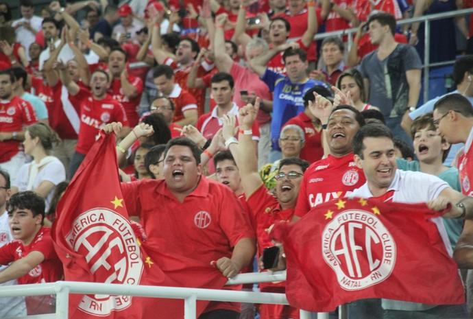 Torcida do América-RN - Arena das Dunas - Natal (Foto: Fabiano de Oliveira)