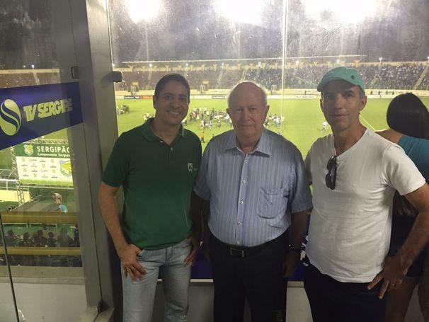 Toda a diretoria da TV Sergipe marcou presença na final do campeonato (Foto: Divulgação/TV Sergipe)