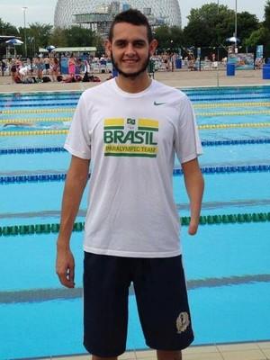 Ruiter Gonçalves, paratleta atleta Praia Clube natação paralímpica (Foto: Divulgação/ Praia Clube)