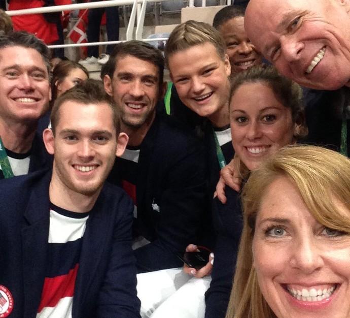 Michael Phelps na Cerimônia de abertura da Olimpíada no Maracanã (Foto: Instagram)