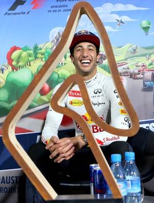 Daniel Ricciardo troféu GP da Áustria 2015