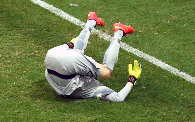 Julio Cesar derrota jogo Brasil x Holanda (Foto: Reuters)