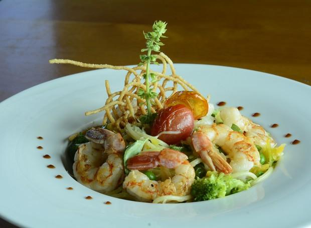 Espaguetti do Atlântico, do restaurante Amaranto do hotel Mercure Salvador Pituba (Foto: Divulgação)