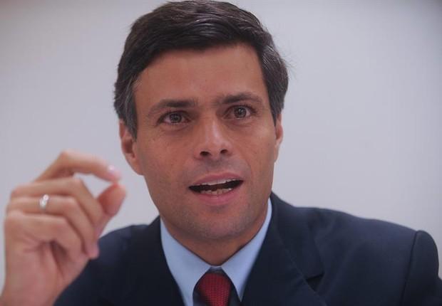 O líder da oposição venezuelana Leopoldo López  (Foto: EFE)