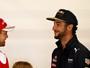 """Após reclamação de Vettel, Ricciardo  alfineta: """"Amo jogo de pingue-pongue"""""""