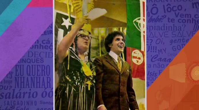 Wanderley Cardoso no programa do Chacrinha (Foto: TV Globo)