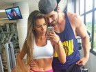 Adriana Sant'Anna e Rodrigão vão juntos à academia e fãs se derretem