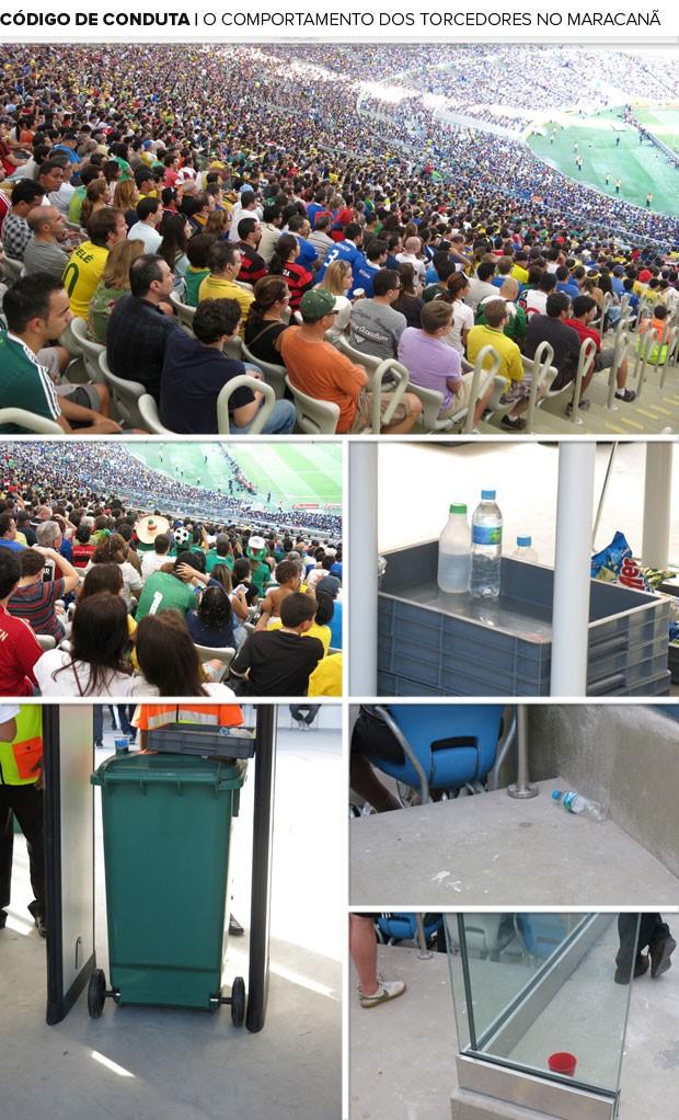 mosaico código de conduta torcedores Maracanã (Foto: Cintia Barlem)