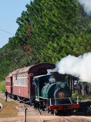 Faça um passeio na locomotiva à vapor (Foto: Divulgação)