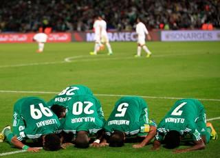 Raja Casablanca comemora contra o Atlético-MG (Foto: Reuters)