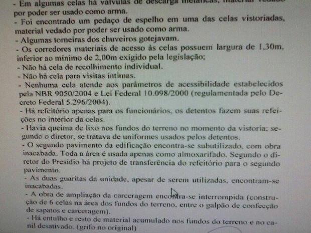 Justiça determina interdição de presídio (Foto: G1)
