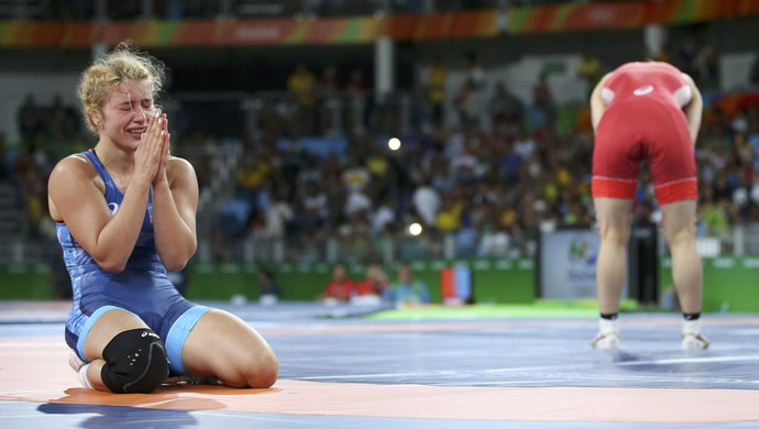 Helen Maroulis vence Saori Yoshida final luta olímpica (Foto: Reuters)