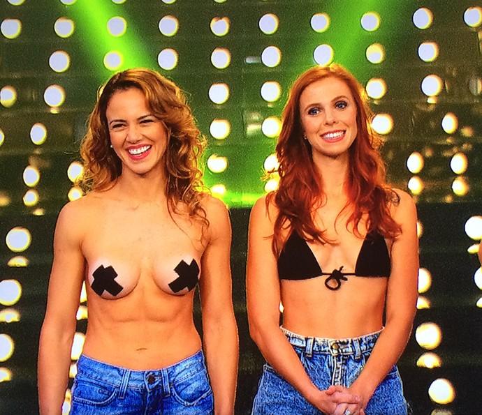 Liberdade feminina é debatida no palco (Foto: TV Globo)