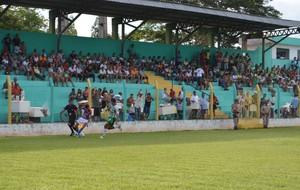 Estádio Ribeirão está com problemas na iluminação (Foto: Dirceu Leno/TocNotícias)